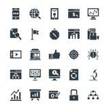 SEO e Internet que introduzem no mercado os ícones frescos 2 do vetor ilustração royalty free