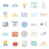 Seo and e-marketing flat icon set Stock Image