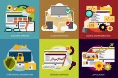SEO e sviluppo illustrazione di stock