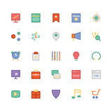 SEO ed icone 3 di vettore colorate vendita Fotografie Stock Libere da Diritti