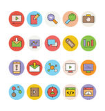 SEO ed icone 3 di vettore di vendita Fotografia Stock