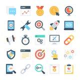 SEO ed icone 6 di vettore di vendita royalty illustrazione gratis