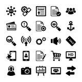 Seo en Digitale Marketing Glyph Vectorpictogrammen 11 vector illustratie