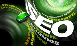 SEO engines strategy background Royalty Free Stock Photography
