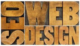SEO et abrégé sur mot de web design image stock