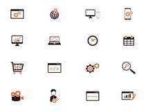 SEO et de développement icônes simplement Photos libres de droits