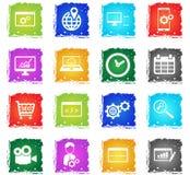 SEO et de développement icônes simplement Photographie stock libre de droits