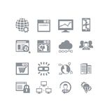 SEO et ensemble d'icône de base de données Photos stock