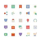 SEO et icônes 3 de vecteur colorées par vente Photos libres de droits
