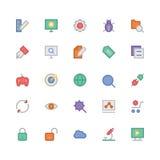 SEO et icônes 1 de vecteur colorées par vente Photo stock