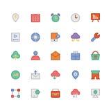 SEO et icônes 8 de vecteur colorées par vente Photo stock