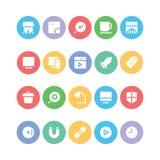 SEO et icônes 9 de vecteur de vente illustration stock