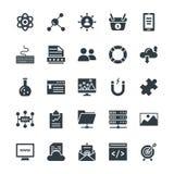 SEO et Internet lançant les icônes sur le marché fraîches 3 de vecteur illustration libre de droits