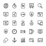 Seo et ligne ensemble de Web d'icônes illustration stock