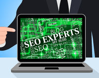 Seo Experts Represents Character Website And Skill Stock Photos