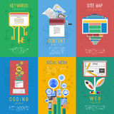 Seo flat icons composition  poster Royalty Free Stock Images