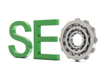 SEO with gears Royalty Free Stock Photography