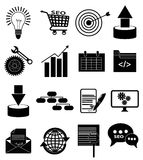 SEO-geplaatste pictogrammen Stock Afbeelding