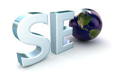 SEO Globe USA Stock Photo