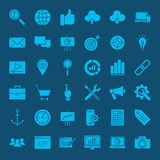 SEO Glyphs Web Icons Photos libres de droits
