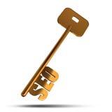 SEO gold key Royalty Free Stock Image