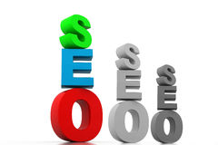 Seo graph Stock Images
