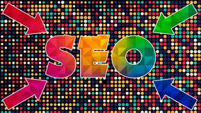 Seo Graphic 002 - Ready Graphic. Colorful Text with Colorful Background vector illustration
