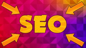 Seo Graphic 005 - Ready Graphic. Colorful Text with Colorful Background stock illustration