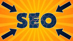Seo Graphic 006 - Ready Graphic. Colorful Text with Colorful Background stock illustration