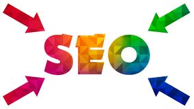 Seo Graphic 001 - Ready Graphic. Colorful Text with Colorful Background vector illustration
