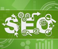 SEO Green Technology Background Square Illustration de Vecteur