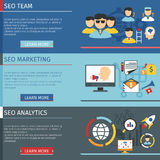 SEO Horizontal Banners Set Immagine Stock