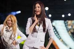 Seo Hyun (SNSD band) at the Human Culture EquilibriumConcert Korea Festival in Viet Nam. Ho Chi Minh City, VietNam - March 22:Seo hyun , (SNSD, Girls' Generation royalty free stock photos