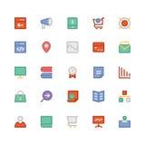SEO i marketing Barwione Wektorowe ikony 7 Obraz Royalty Free