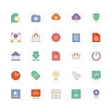 SEO i marketing Barwione Wektorowe ikony 4 Fotografia Stock