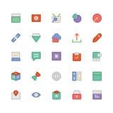 SEO i marketing Barwione Wektorowe ikony 6 Fotografia Stock