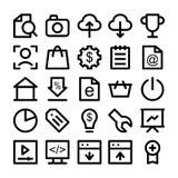 SEO 4 i Marketingowe ikony Obraz Stock