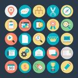 SEO 2 i Marketingowe Wektorowe ikony Fotografia Royalty Free
