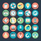 SEO 3 i Marketingowe Wektorowe ikony Zdjęcia Royalty Free