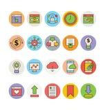 SEO 6 i Marketingowe Wektorowe ikony Zdjęcia Stock