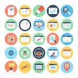 SEO 3 i Marketingowe Wektorowe ikony obrazy royalty free