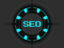 SEO icon. SEO button - Search Engine Optimization Stock Photography