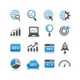SEO Icon-Satz Lizenzfreie Stockfotos