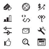 SEO Icon-Satz Lizenzfreies Stockfoto