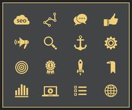 SEO icon set Royalty Free Stock Photos