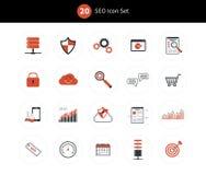 SEO icon set Royalty Free Stock Images