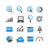 SEO icon set. Simplicity Series Royalty Free Stock Photos