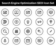 SEO Icon SET Vector illustration. Vector Illustration. Easy TO use 100% vector design and vector file formats. 100% Professional Design Stock Photo