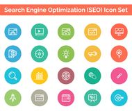 SEO Icon SET Vector illustration. Vector Illustration. Easy TO use 100% vector design and vector file formats. 100% Professional Design Royalty Free Stock Image