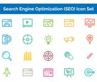 SEO Icon SET Vector illustration. Vector Illustration. Easy TO use 100% vector design and vector file formats. 100% Professional Design Stock Photos